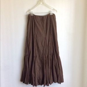 Elie Tahari Boho Brown Skirt Size 12 Note Sizing